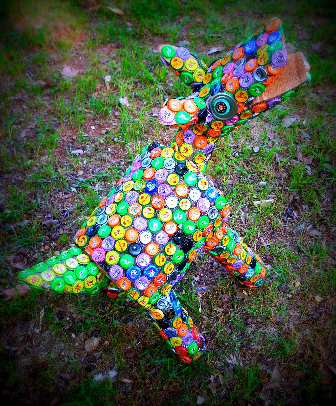 Robert Oren Eades Outsider Art Bottle Cap Hound
