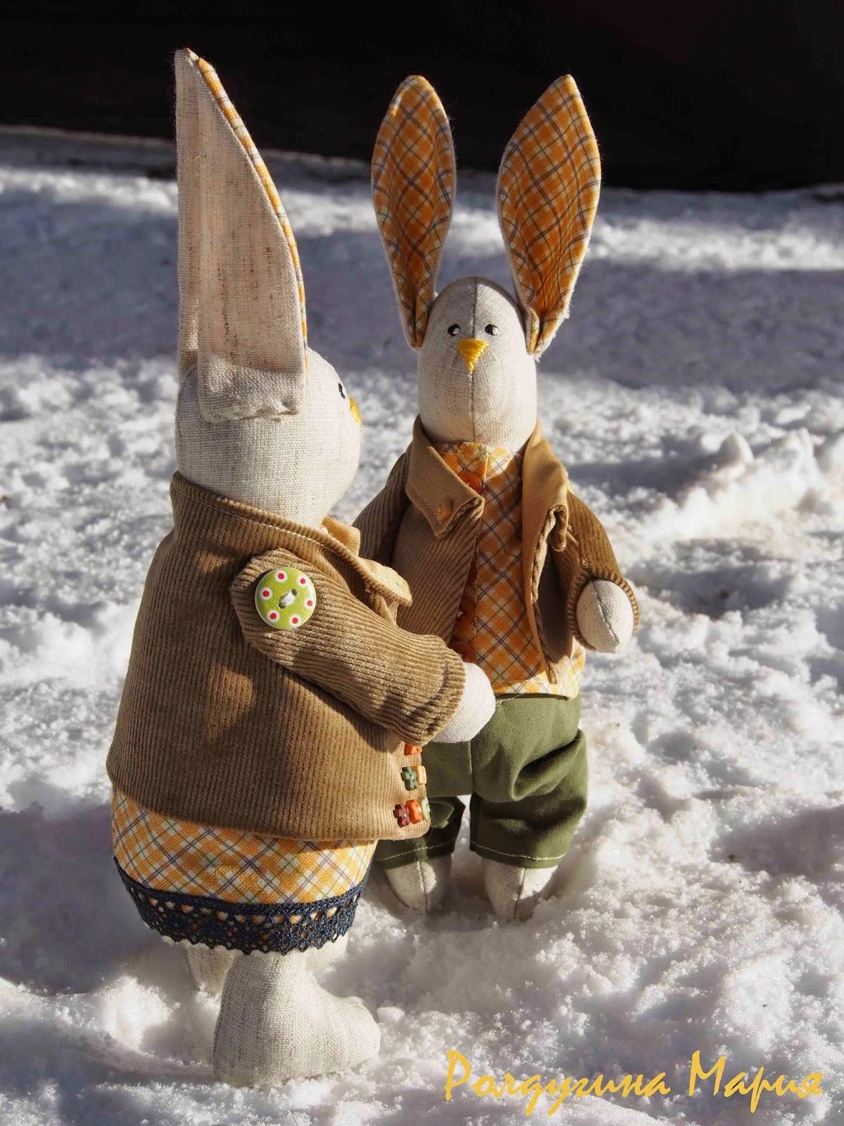 пара зайцев игрушка
