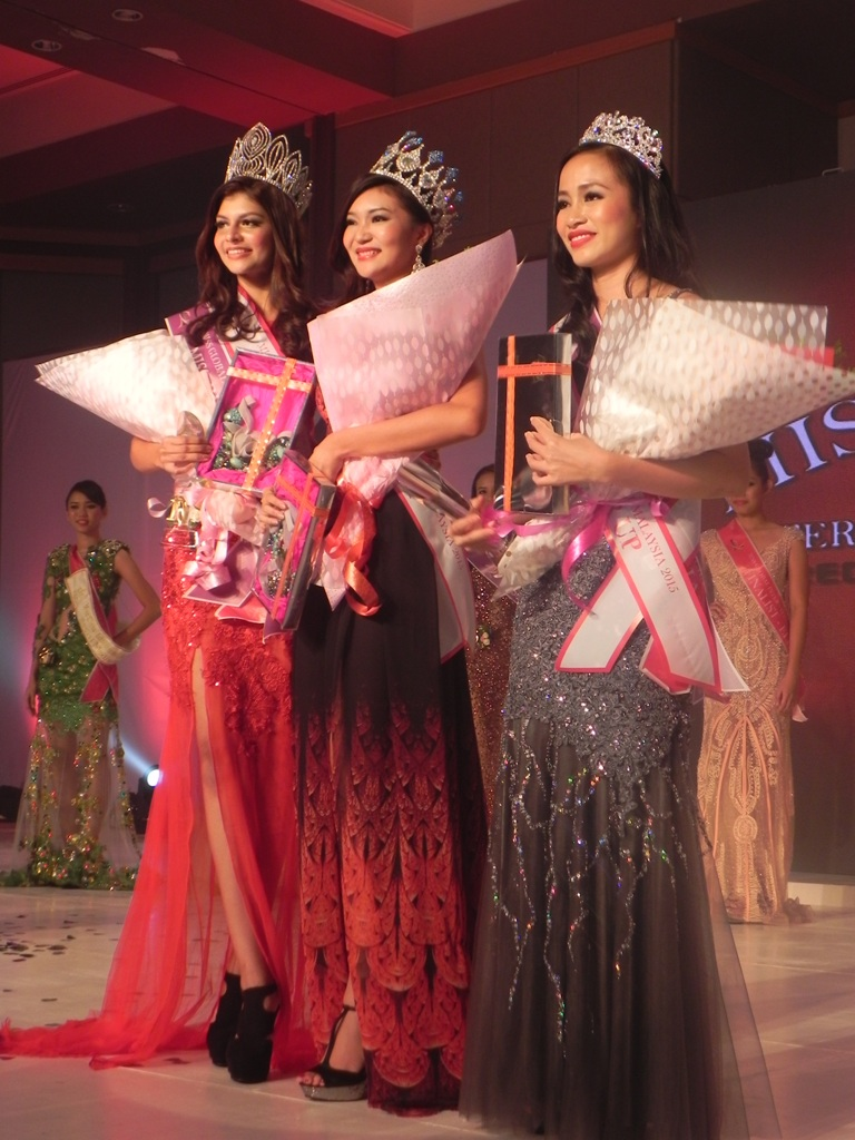 MISS GLOBAL INTERNATIONAL MALAYSIA 2015 TOP 3 WINNERS. CONGRATS!
