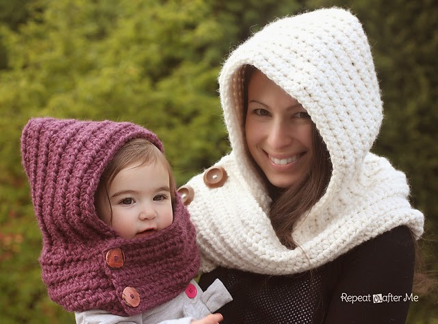 free crochet pattern hooded cowl