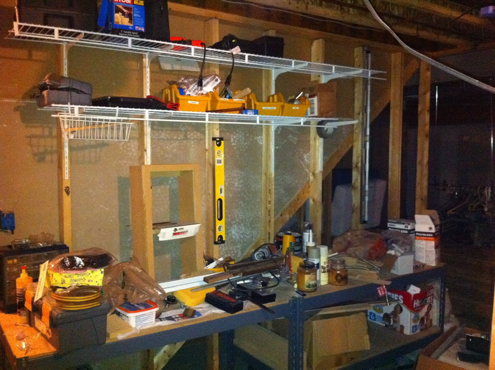 organize tools in basement organizing the basement
