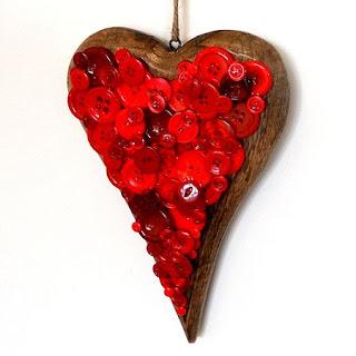 Ideas para Reciclar Botones, Decoracion de San Valentin