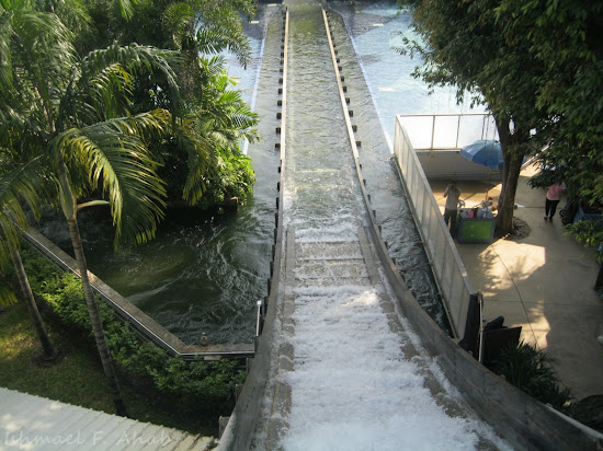Down view at Super Splash, Dreamworld Bangkok