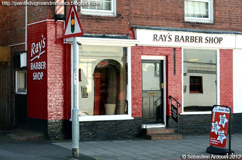 Barber Shops Near My Location : ... of a modern sign with a retro look, enhanced by the A of B...