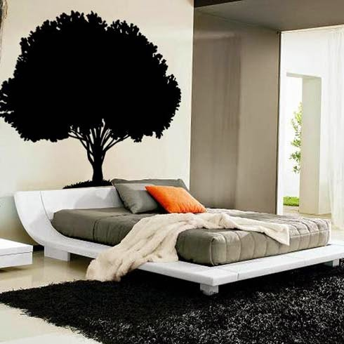 stickers wall decals elegant beds