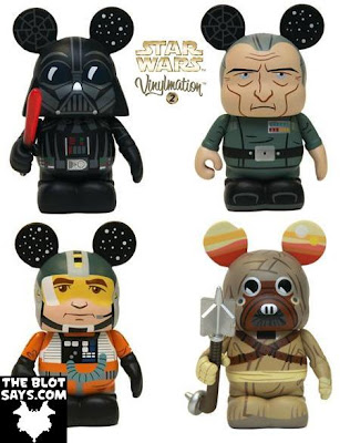 Star Wars Vinylmation Series 2 - Darth Vader, Grand Moff Tarkin, X-Wing Pilot & Tusken Raider