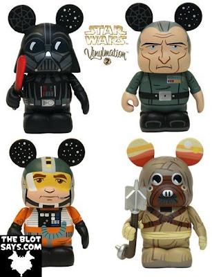 Star Wars Vinylmation Series 2 - Darth Vader, Grand Moff Tarkin, X-Wing Pilot & Tusken Raider