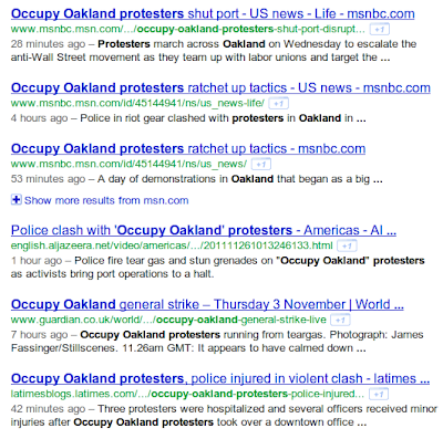 Occupy Oakland search