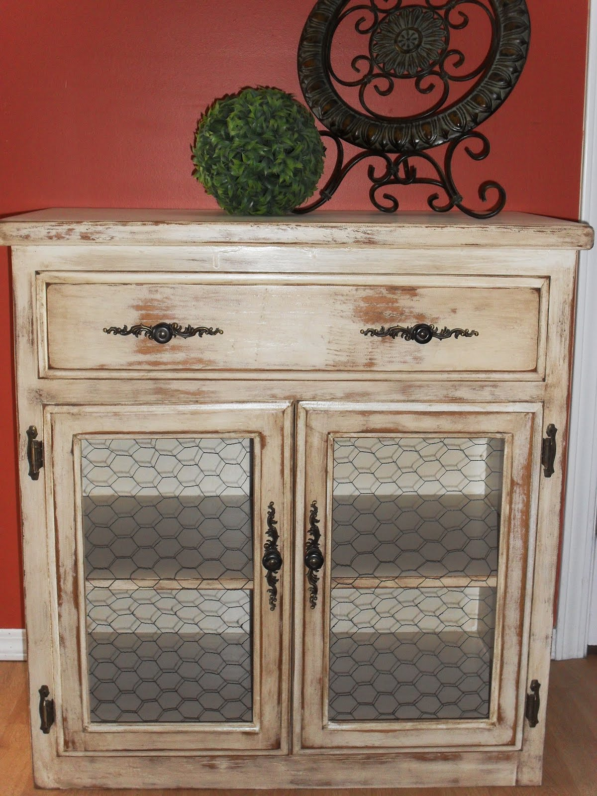 Home Frosting Distressed Cabinet