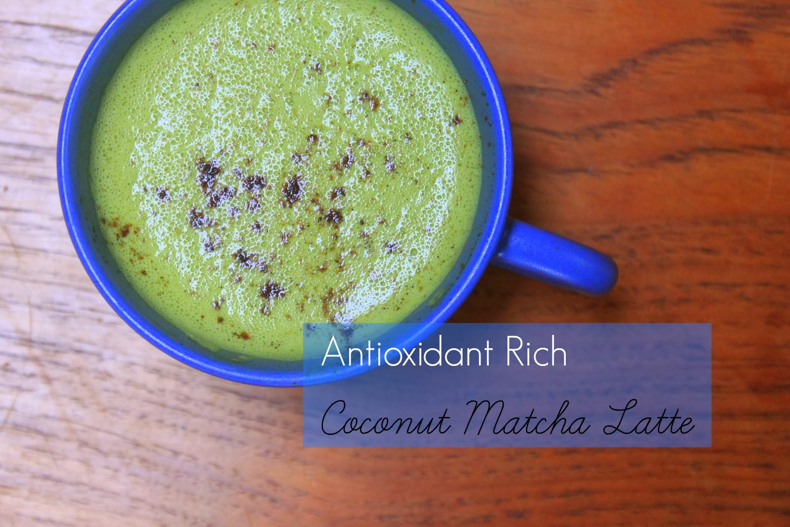 coconut matcha latte diy