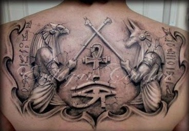 egyptian back tattoos