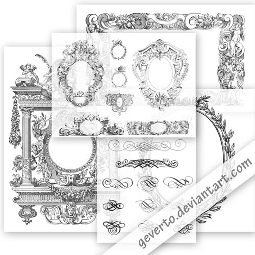 ornaments, borders, flourish, oval, frame, frames, vintage, free, clip art, clipart