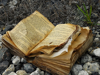weathered magic book