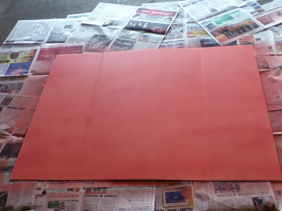 spray painting my poster board. Black Bedroom Furniture Sets. Home Design Ideas