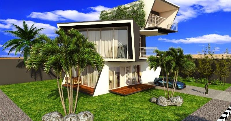 contoh desain eksterior menggunakan sketchup dan v ray for