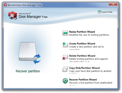 Wondershare Disk Manager , PARTITION MANAGER, Partition Bad Disk, Disk partition manager , freewares , windows softwares,