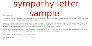 Sympathy letter sample samples business letters samples business letters spiritdancerdesigns Image collections