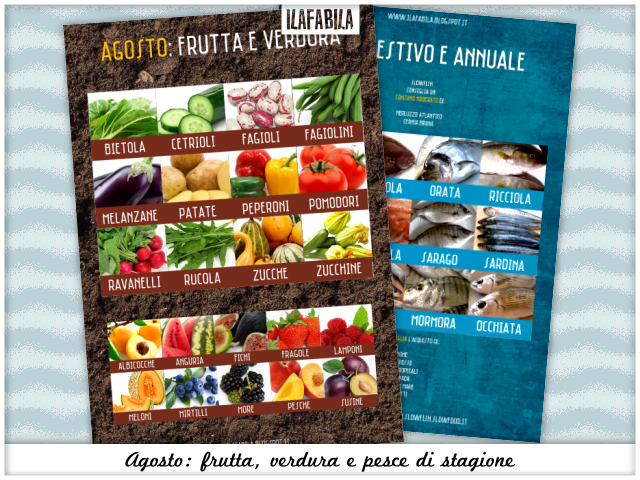Agosto: frutta, verdura, pesce (e conserve) di stagione