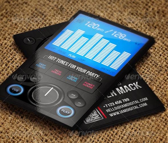 10 Best DJ Business Cards PSD Templates bestgraphicdesign