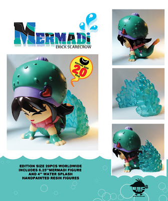 ESC Toy - Mermadi Resin Figure 2 Piece Set by Erick Scarecrow