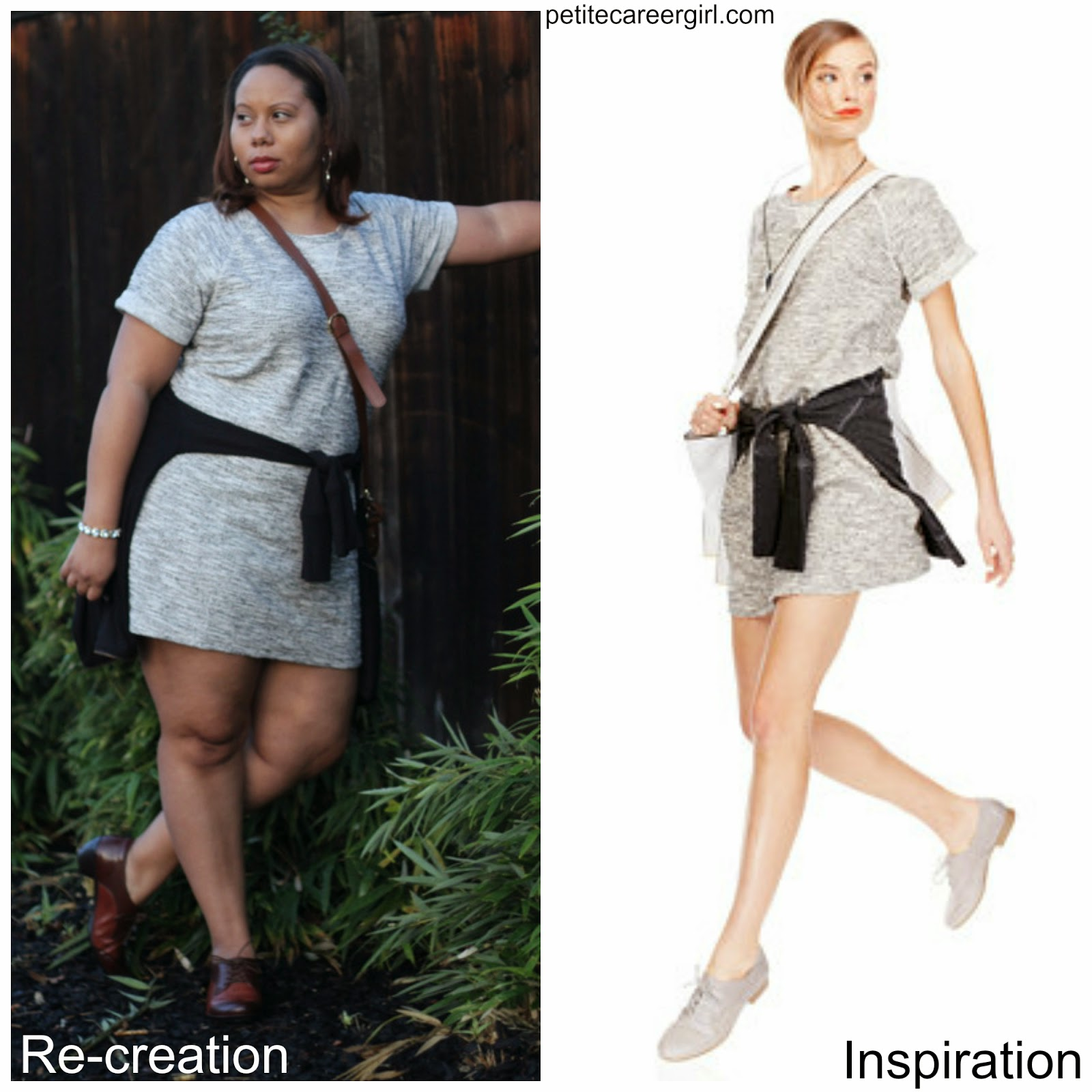 Curvy, Petite Outfit Ideas | Professional and Casual-Chic Fashion and Style Inspiration | Outfit Recreation: Macy's Sporty Dress