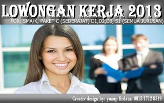 Info Daftar Lowongan Kerja Terbaru Pada April-Mei 2013