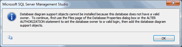 Database does not have a valid owner software development a really short simple and easy solution is change the database owner to sa like below image ccuart Choice Image