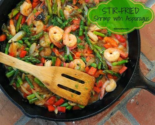 ... Parade: Stir-Fried Shrimp with Asparagus or Other Summer Vegetables