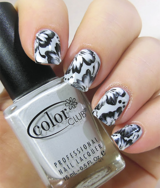 one-stroke flower nail art