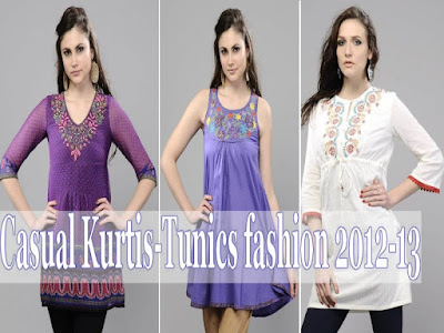 Casual Fashion 2012 on Casual Kurti Fashion 2012 13   Casual Ladies Kurta Tunic Fashion