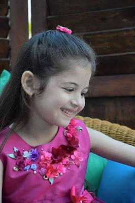 Smiling face of munni aka Harshaali