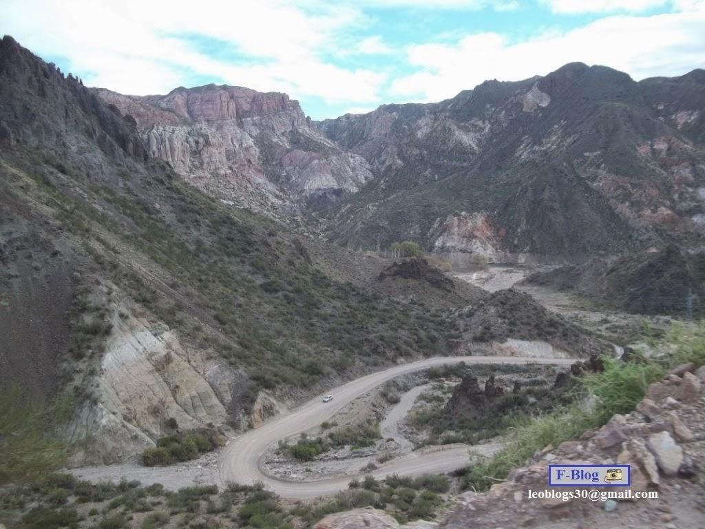 Camino de montaña de Valle Grande a Nihuil - San Rafael, Mendoza