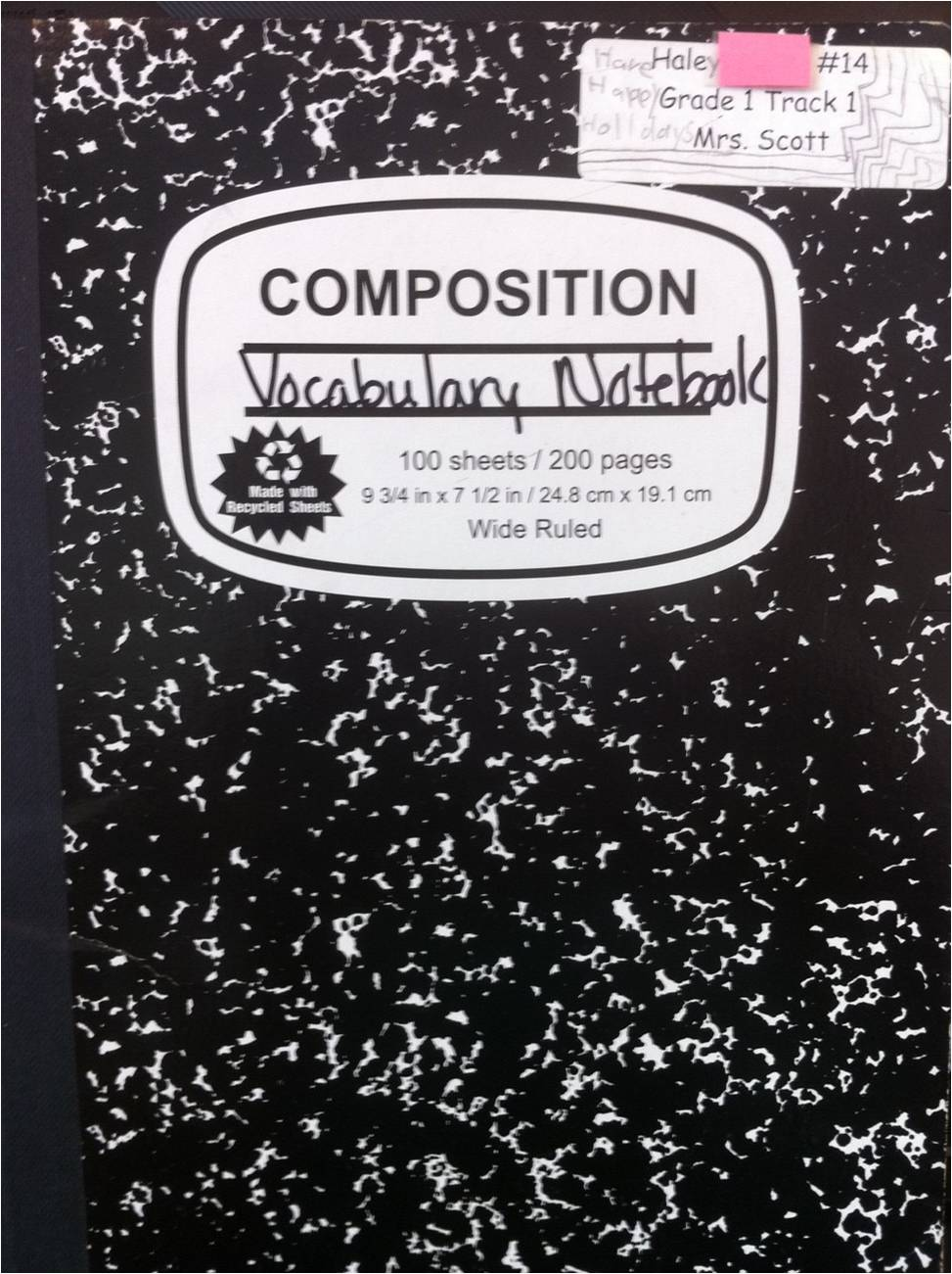 Composition Book Cover Template ~ Composition notebook cover template imgkid the