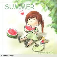 日历中的夏天
