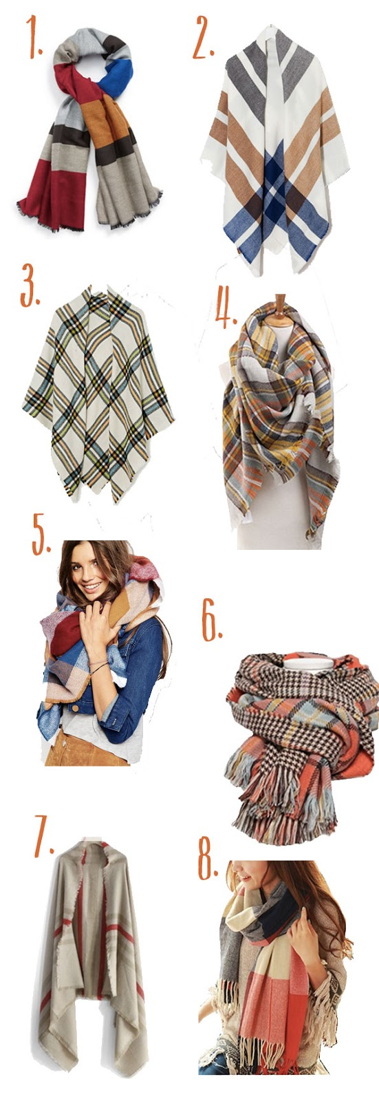 how to wear blanket scarves for fall