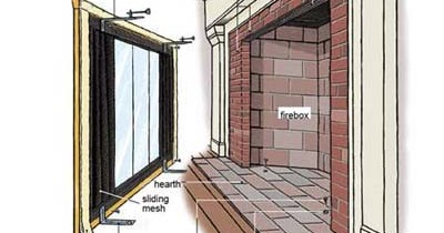 Fireplace Decorating How To Install Glass Fireplace Doors