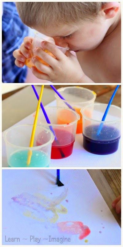 How to make two ingredient scented watercolor paint.  Psst...one of the ingredients is water!