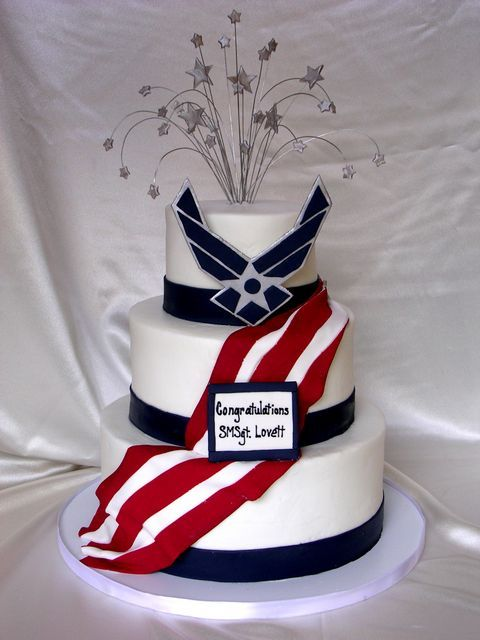 Usaf retirement cake cake ideas and designs for Air force cakes decoration