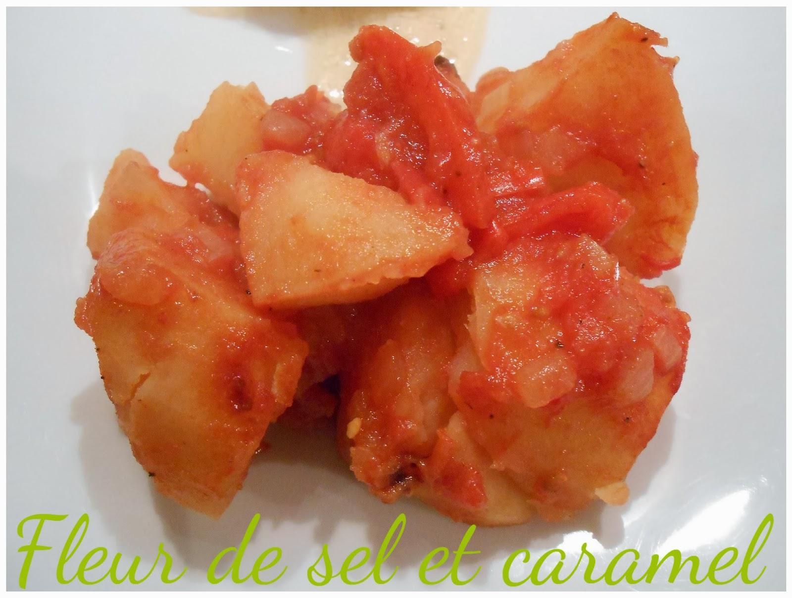 Pommes de terre tomatées au four