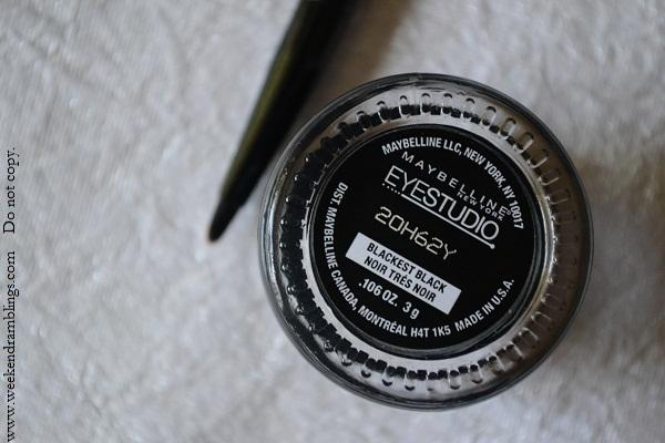 maybelline gel liner blackest black eyestudio lasting drama eyeliner makeup eotd reviews swatches