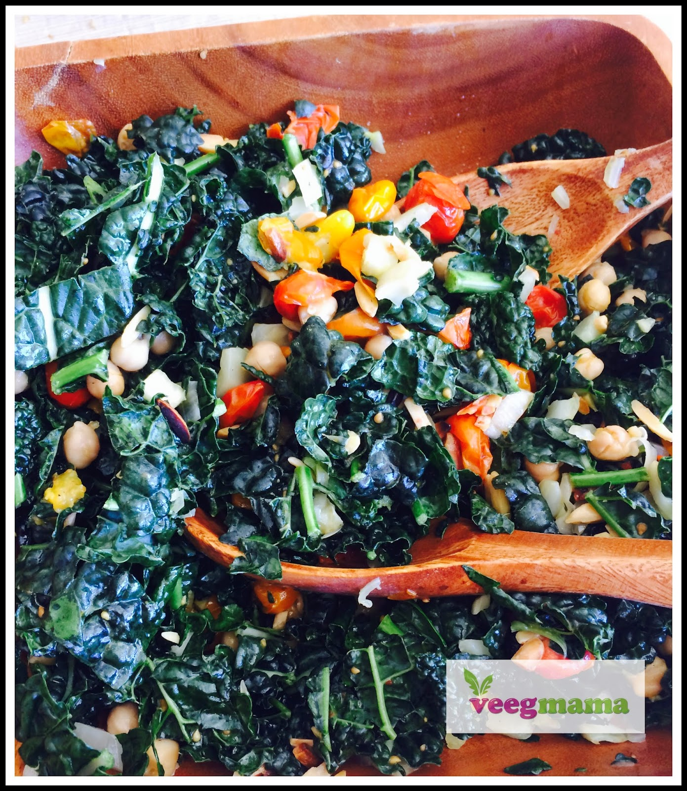VeegMama's Recipe for Kale Salad with Roasted Fennel and Tomatoes