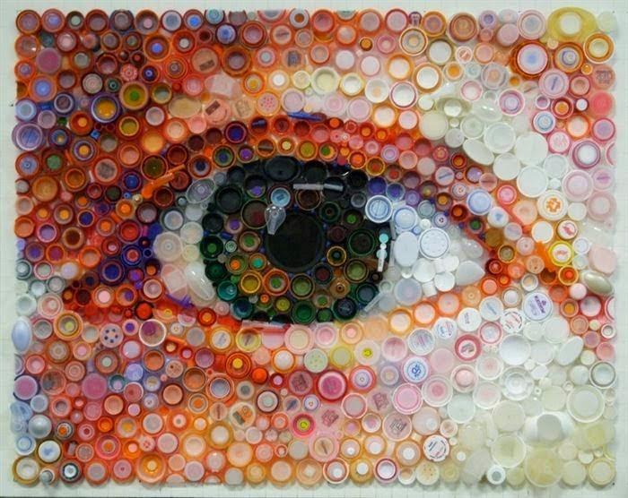 اعمال فنية تصدق اغطية الزجاجات