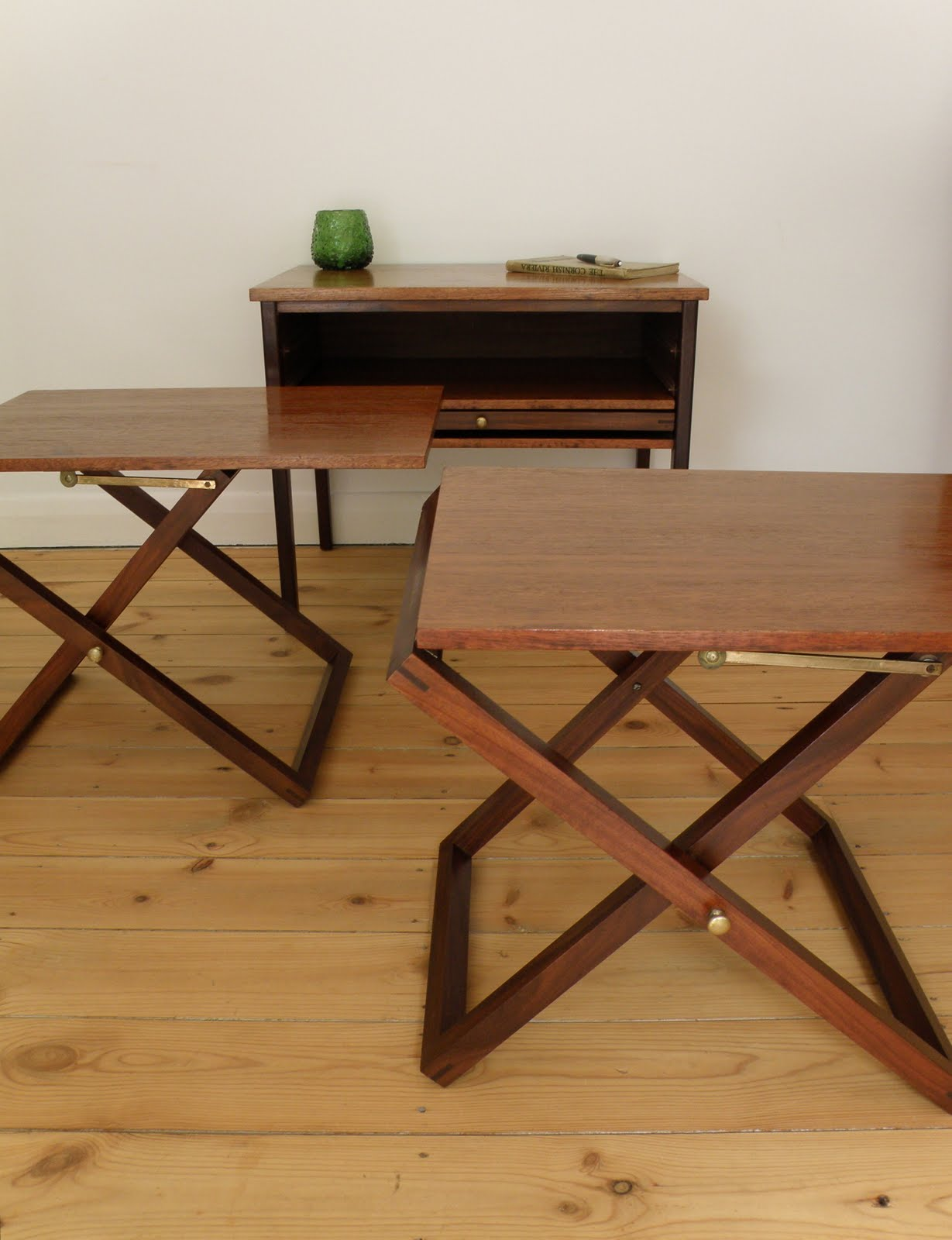Three Folding Nesting Tables With Master Storage Cabinet . Full resolution  photo, nominally Width 1229 Height 1600 pixels, photo with #2E180D.