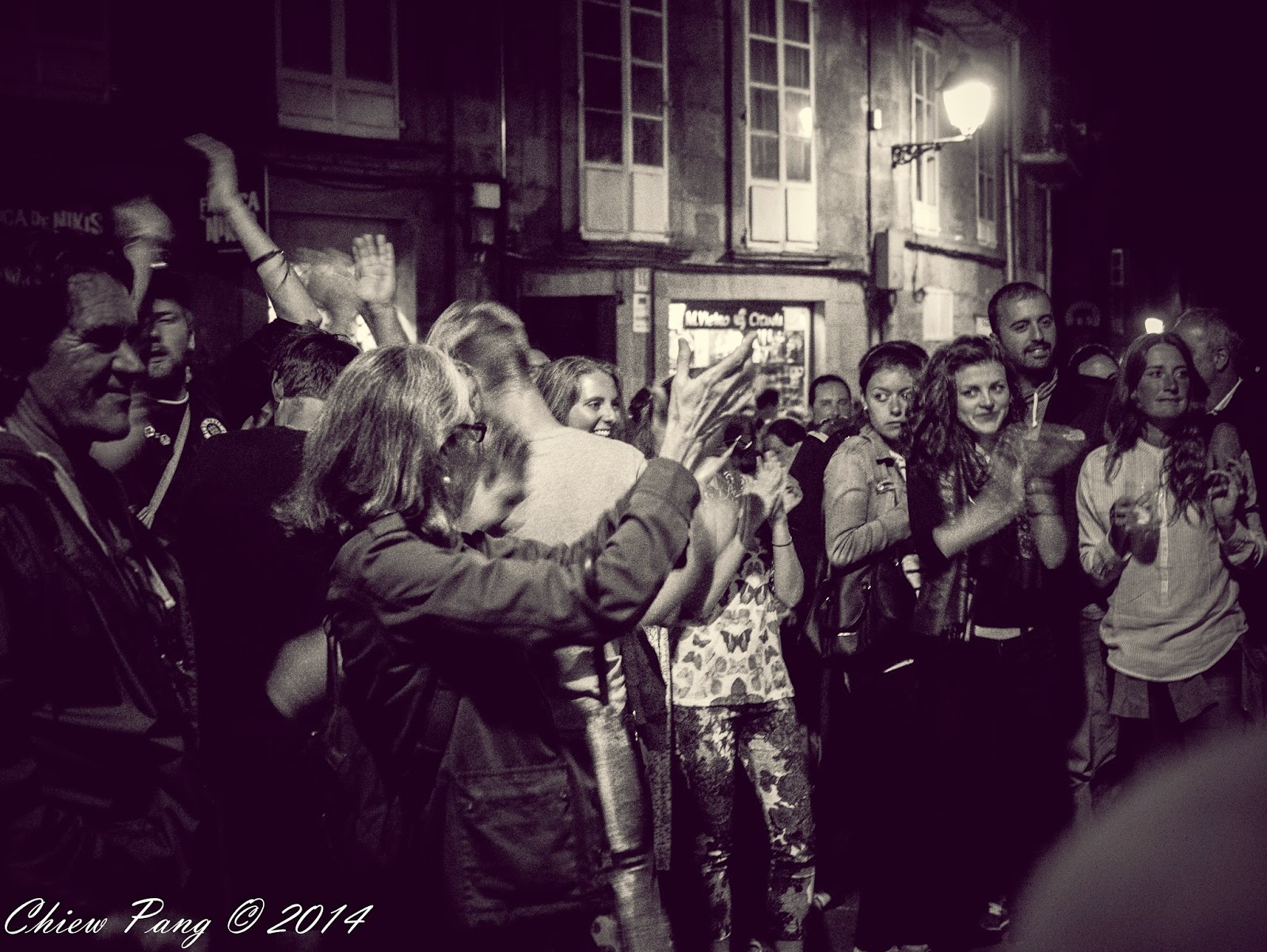 Free music in the streets of Santiago de Compostela