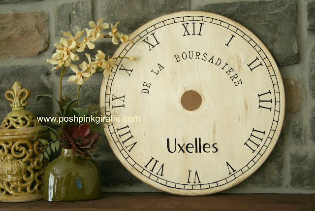 Painted Clock {Pottery Barn Knock-off} DIY