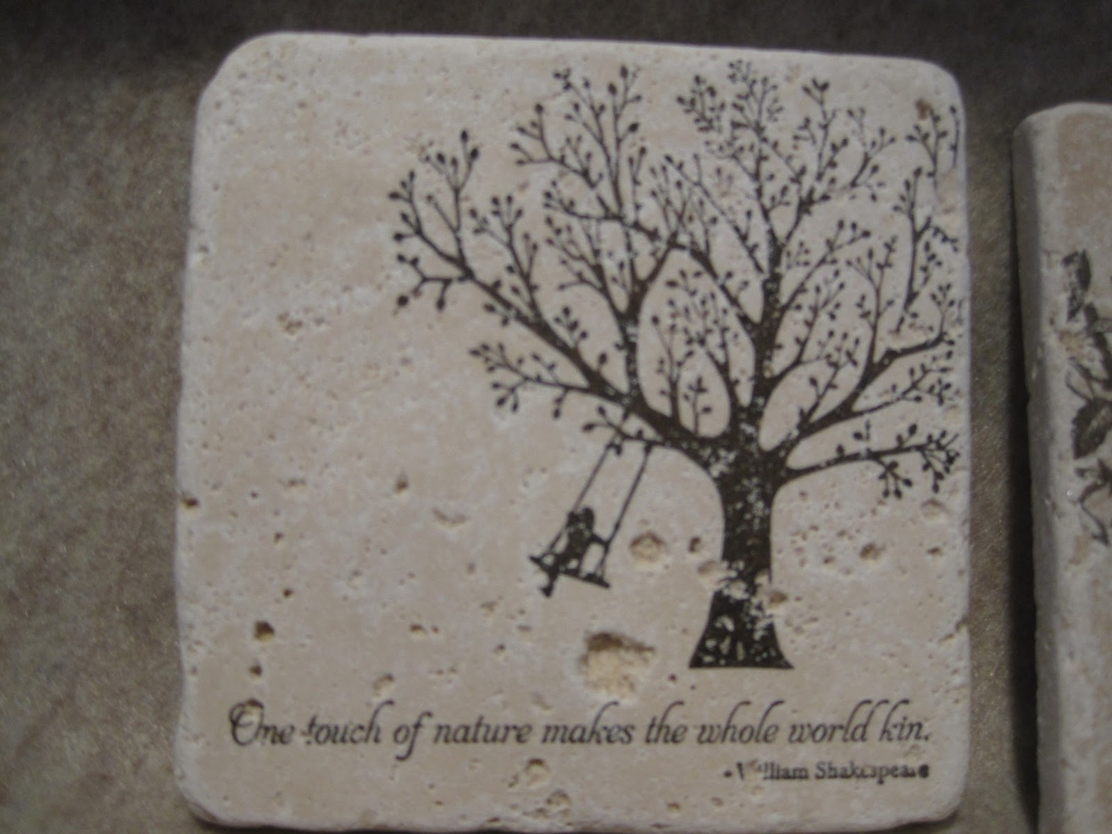 Sunday view travertine tile coaster tutorial stamp images with fewer details fewer lines and more solid areas on the rougher tiles dailygadgetfo Images