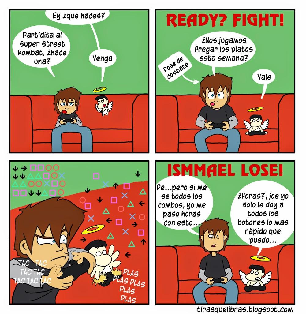 webcomic ye lo que hay, Ismmael y Angel juegan a un juego de lucha