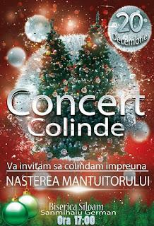 Concert de colinde la Biserica Siloam Sânmihaiul German - 20 decembrie 2015