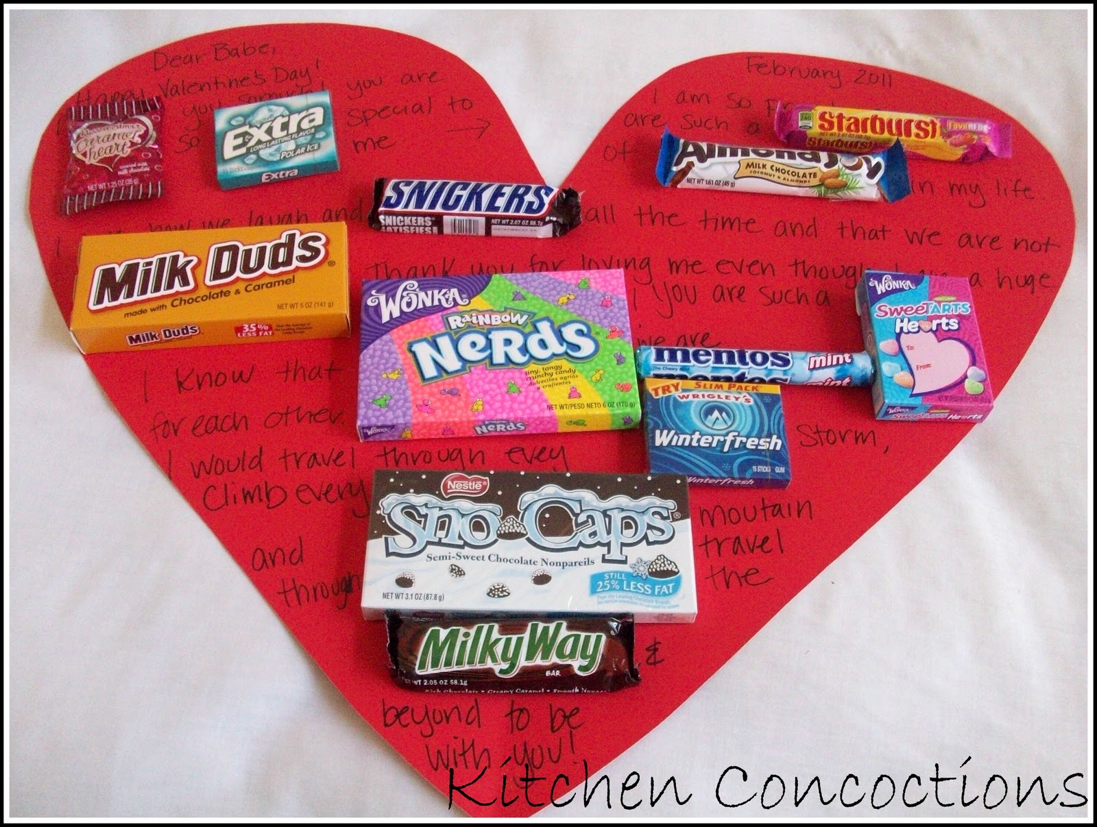 How To Valentines Day Candy Cards Kitchen Concoctions – Candy Valentine Card