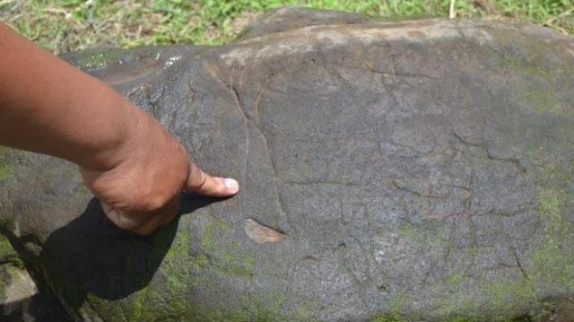 Batu Temuan Warga di Pagar Alam Merupakan Prasasti Zaman Sriwijaya